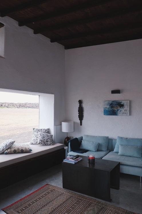 El ventanal con vistas al desierto